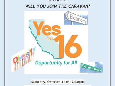 Prop 16 yes flyer