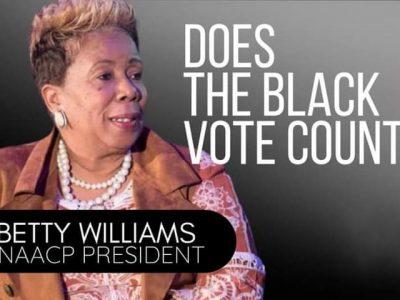 betty Williams president poster